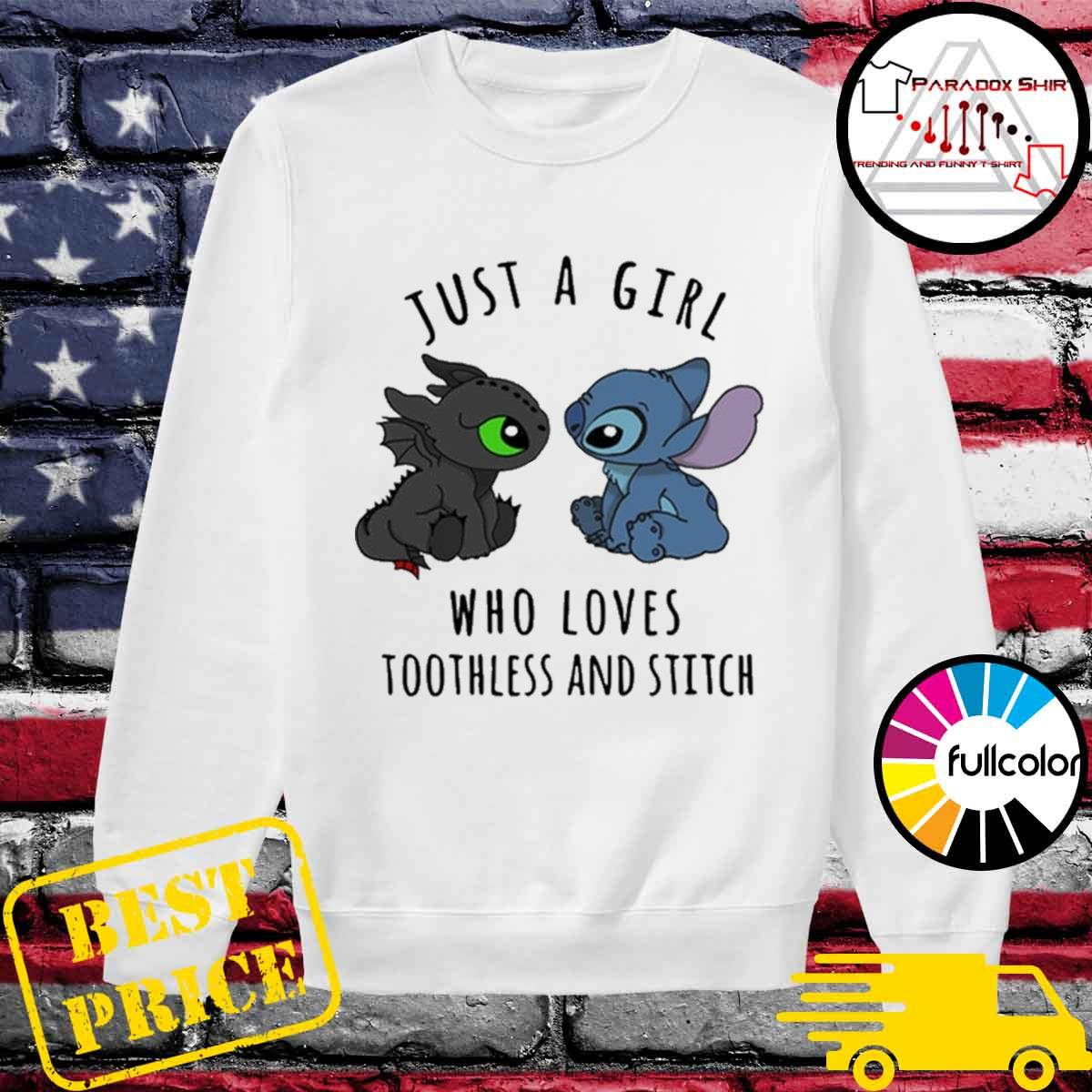 Just a girl who loves Toothless and Stitch s Sweater