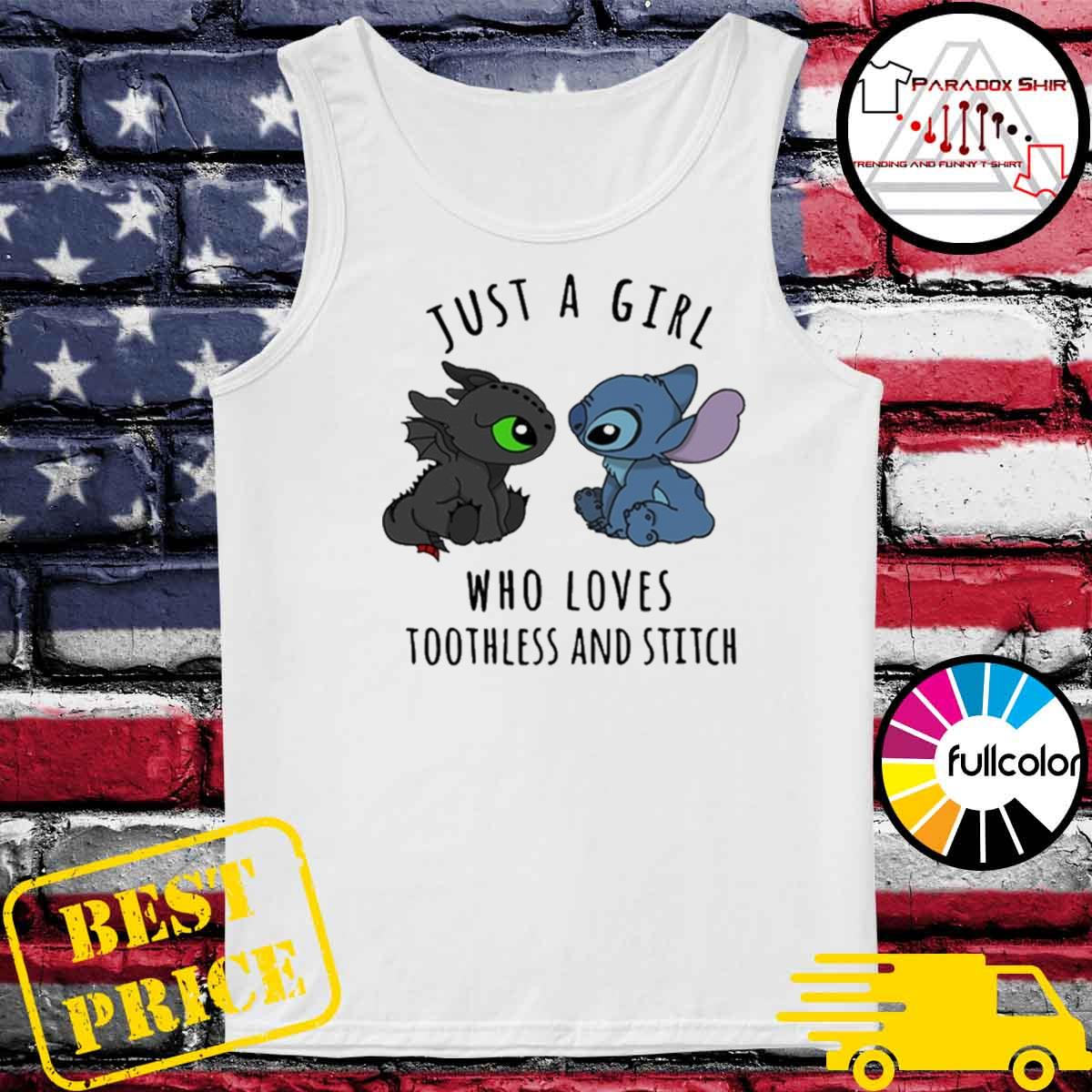 Just a girl who loves Toothless and Stitch s Tank-top