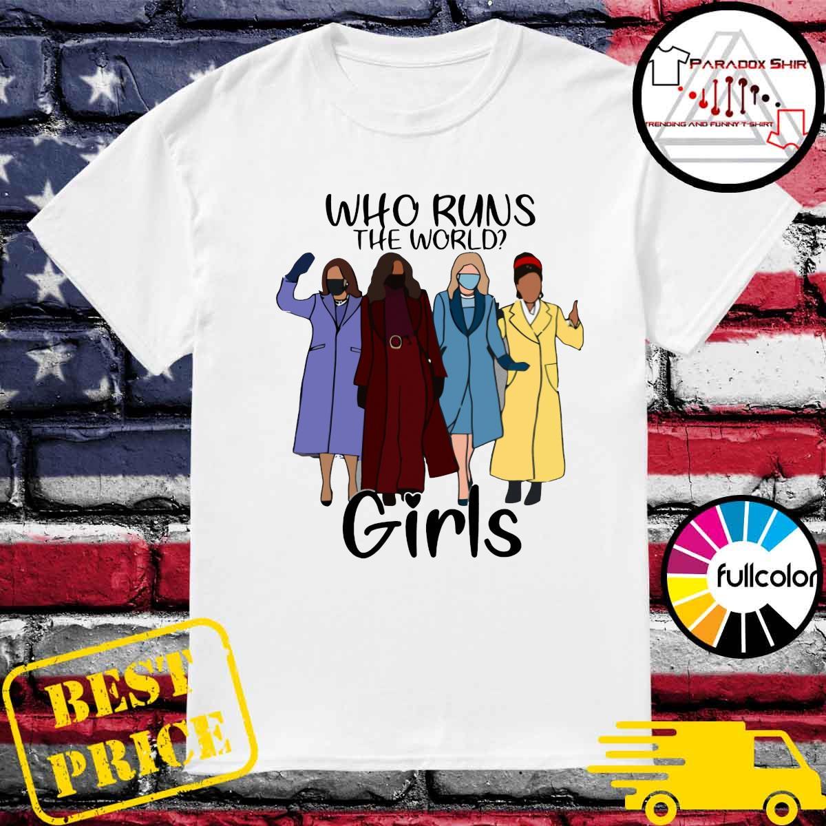 Kamala Harris Kamanda Gorman Who runs the world Girls shirt