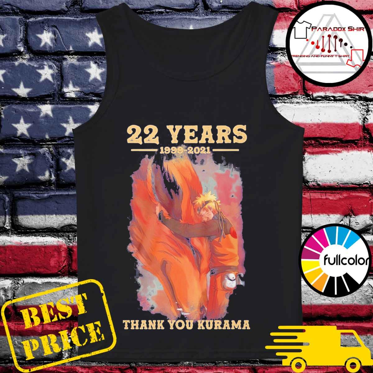 Naruto 22 years 1999 2021 Thank you Kurama s Tank-top