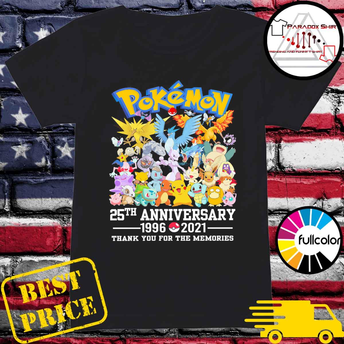 Pokémon 25th anniversary 1996 2021 thank you for the memories s Ladies