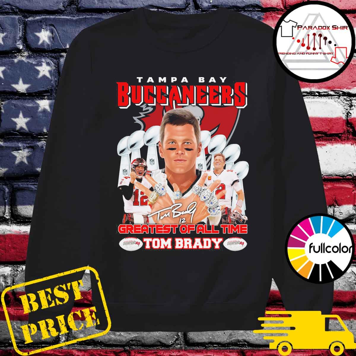 Tampa Bay Buccaneers 12 Tom Brady Greatest of all time s Sweater