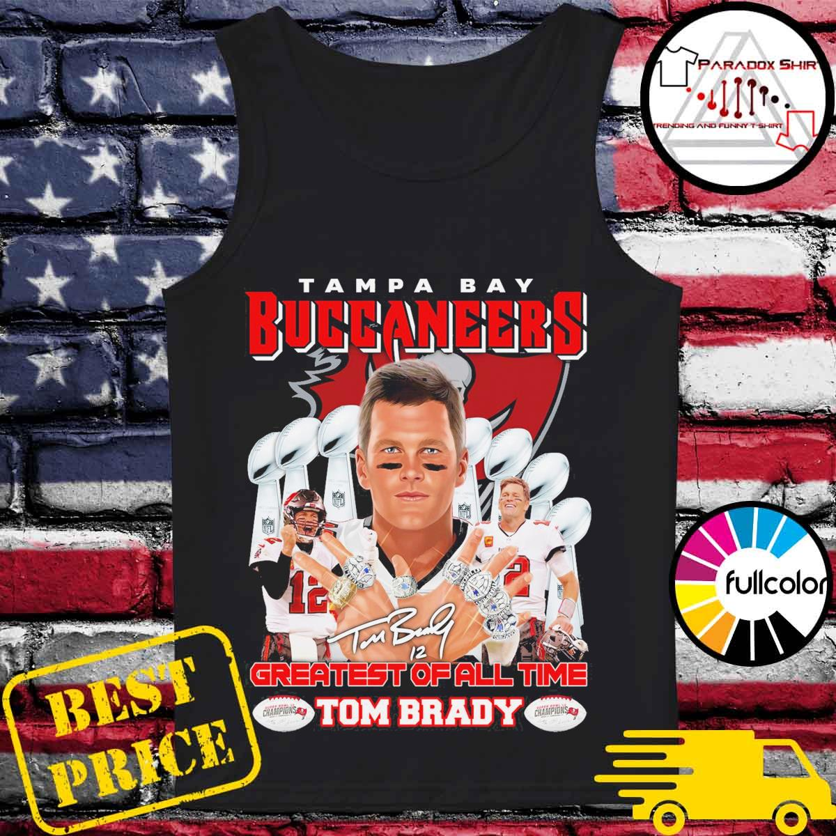 Tampa Bay Buccaneers 12 Tom Brady Greatest of all time s Tank-top