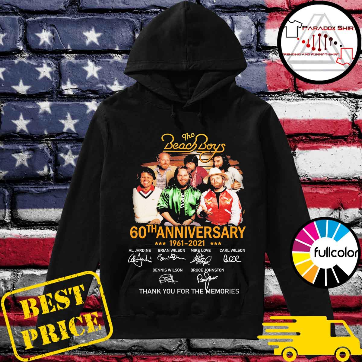 The Beach Boys 60th anniversary 1961 2021 signatures thank you for the memories s Hoodie