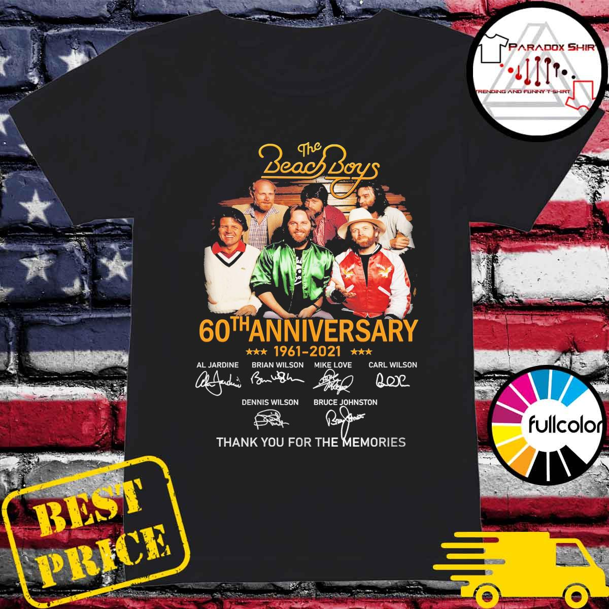 The Beach Boys 60th anniversary 1961 2021 signatures thank you for the memories s Ladies