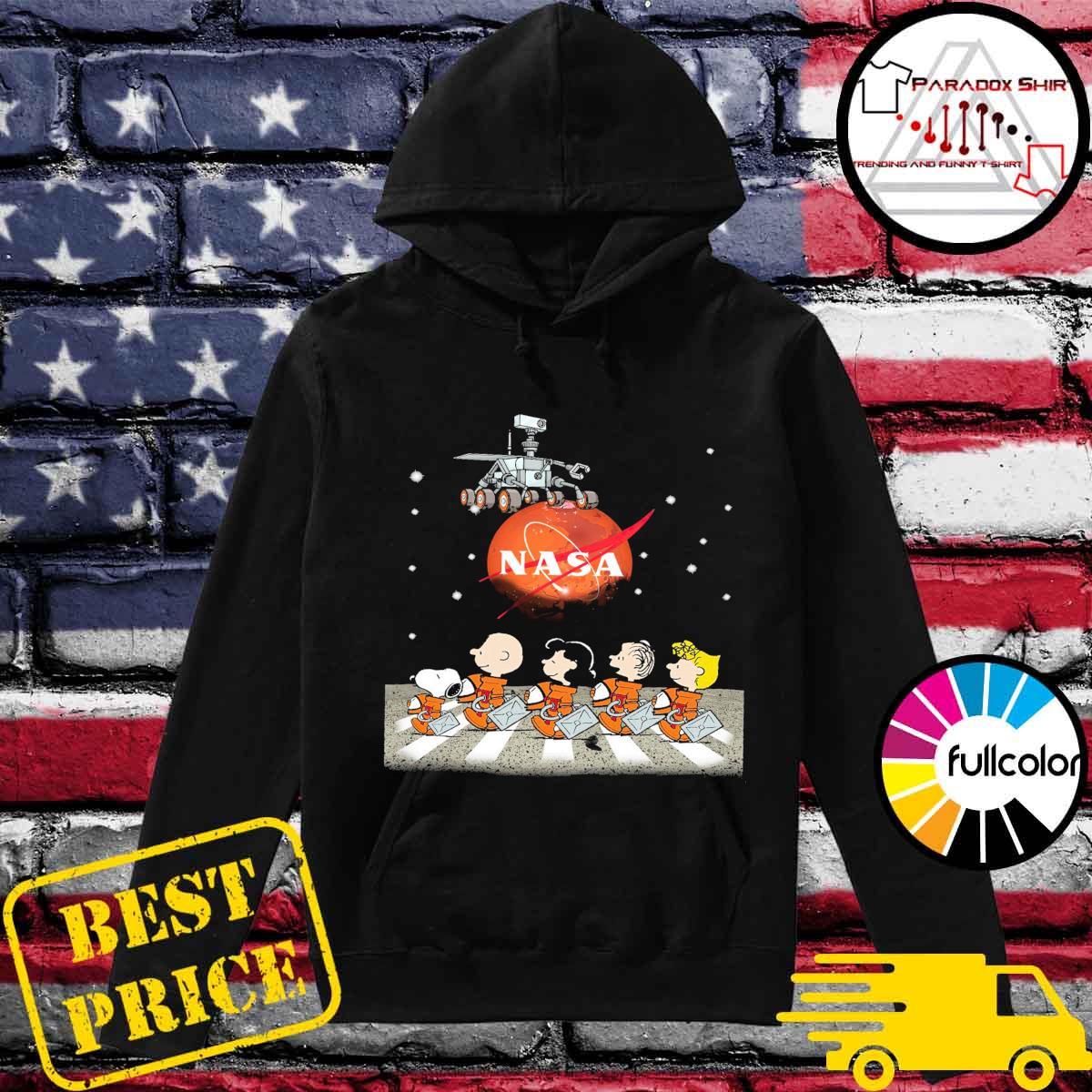 The Peanuts Walking on the Moon Nasa s Hoodie
