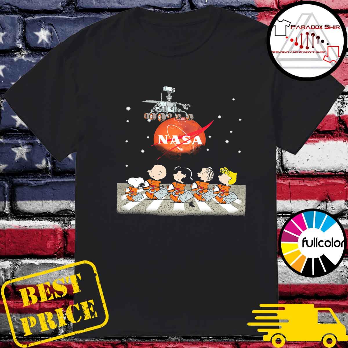 The Peanuts Walking on the Moon Nasa shirt