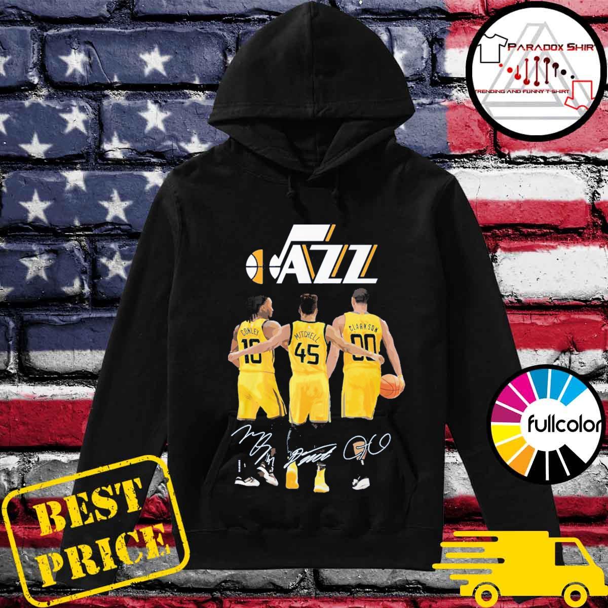 Utah Jazz Conley Mitchell Clarkson signatures s Hoodie