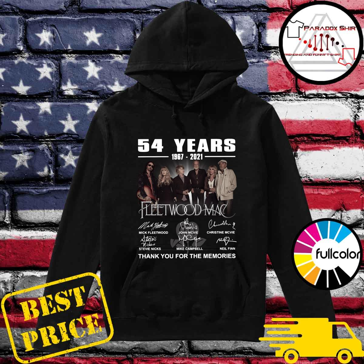 54 Years 1967 2021 Of The Fleetwood Mac Signatures Thank You For The Memories Shirt Hoodie