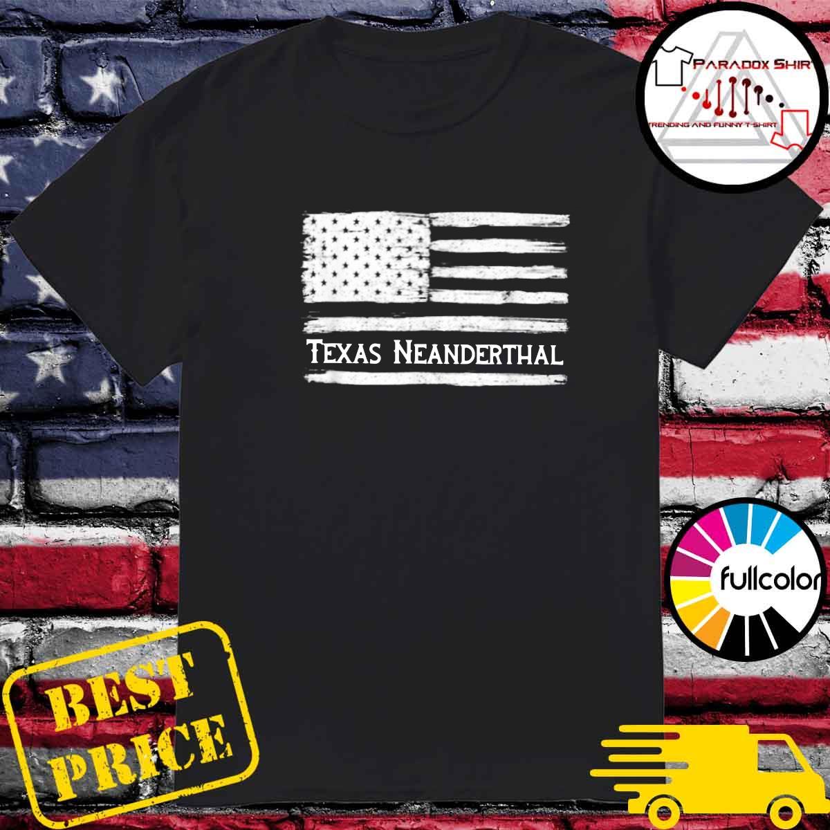 Official Texas Neanderthal American Flag Shirt