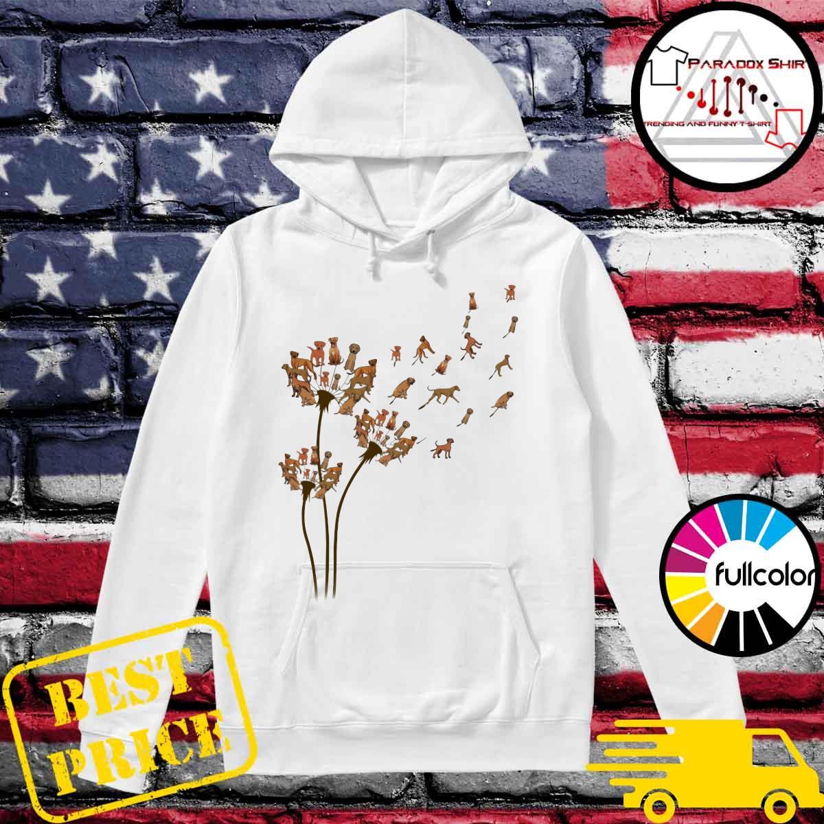 Rhodesian Ridgeback Dandelion Flower Shirt Hoodie