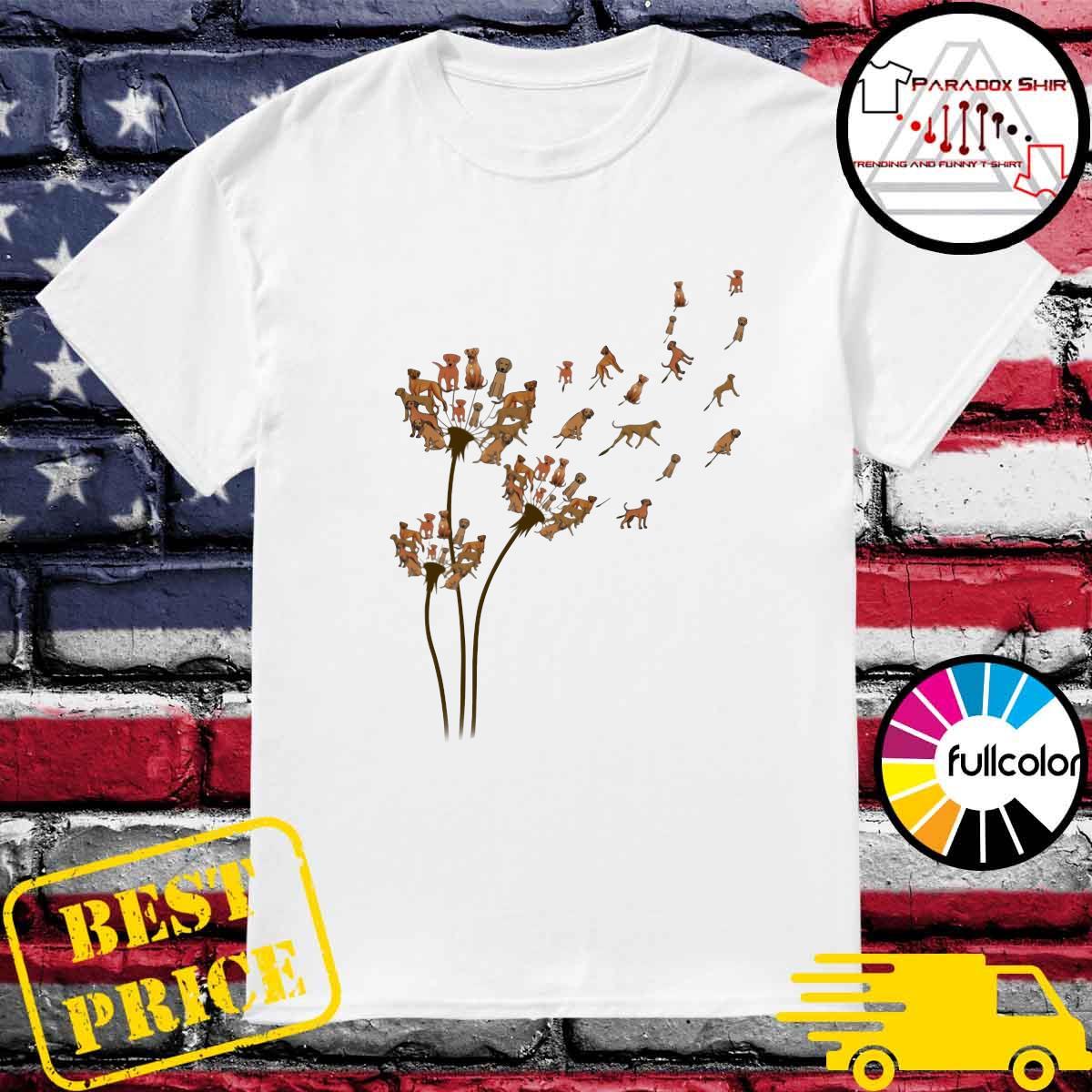 Rhodesian Ridgeback Dandelion Flower Shirt