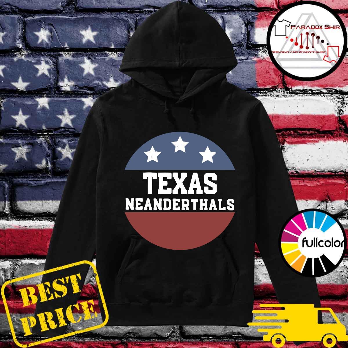 Vintage Texas Neanderthals American Flag Shirt Hoodie
