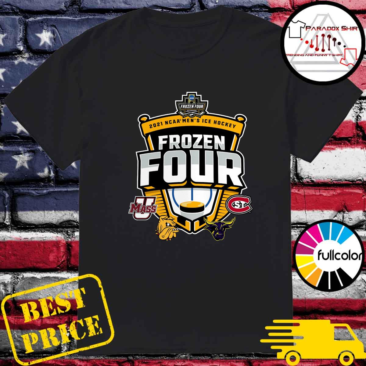 Official 2021 NCAA Men's Hockey Tournament Frozen Four T-Shirt