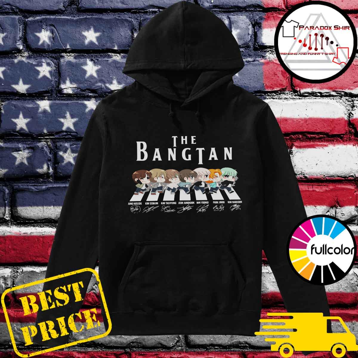 Official The Bangtan BTS Chibi Abbey Road Signatures Shirt Hoodie