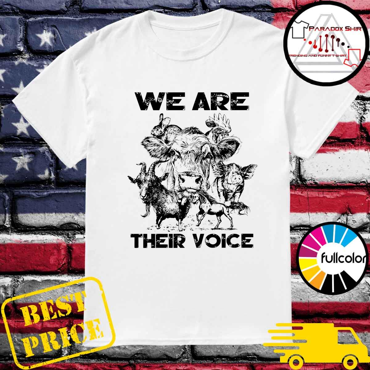 Official We Are Their Voice Animal Shirt