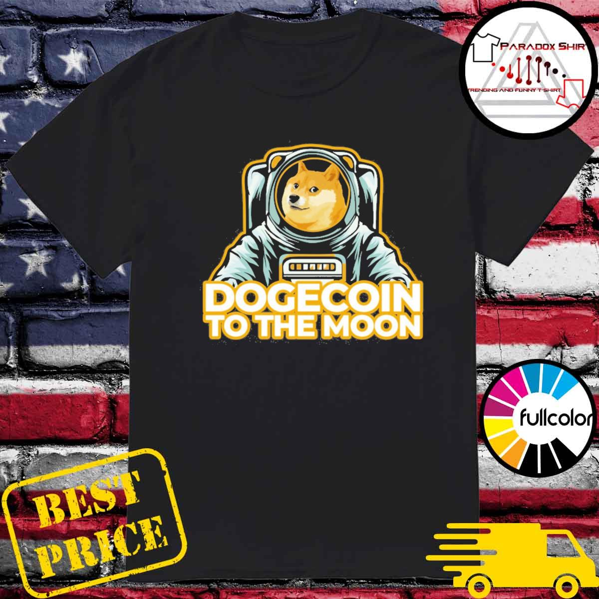 Shiba Dogecoin To The Moon Shirt