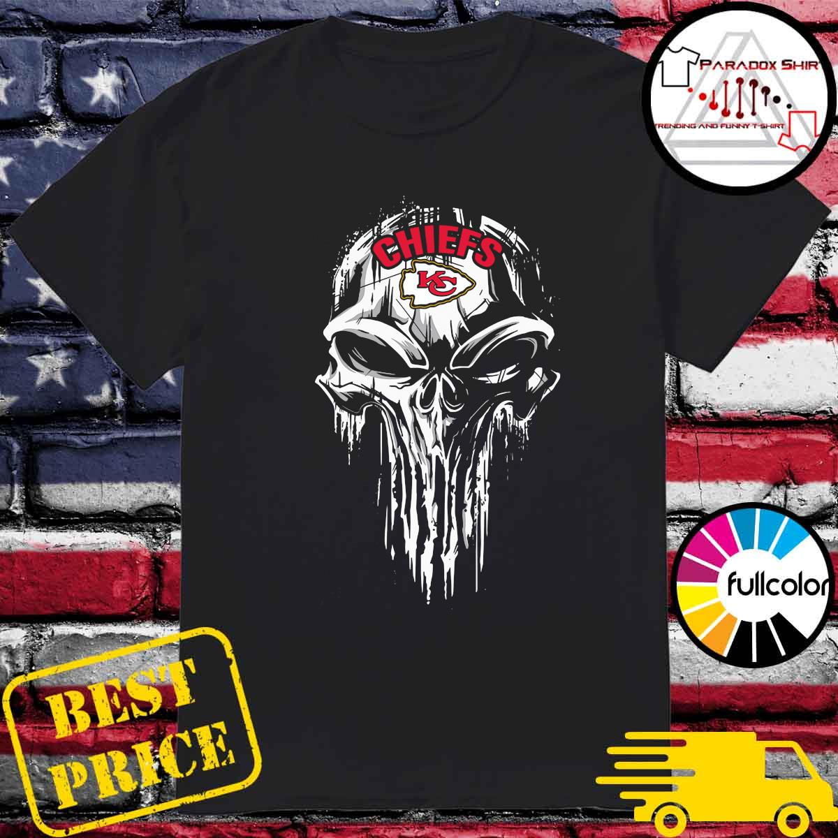 Kansas City Chiefs Punisher skull shirt