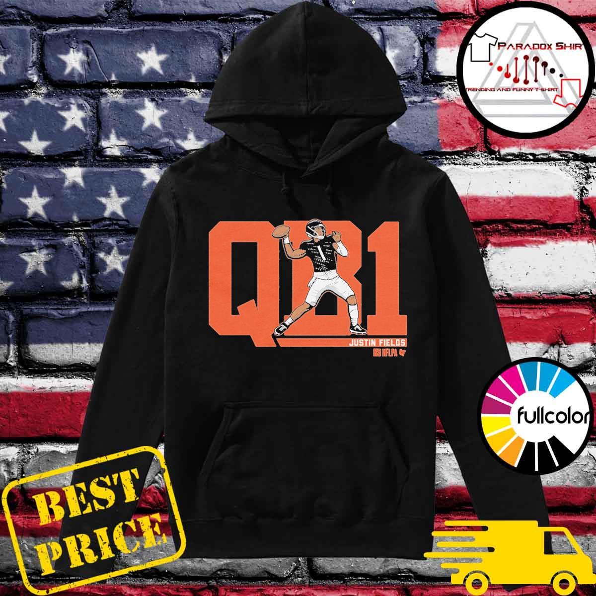 NFLPA Licensed Justin Fields QB1 T-Shirt Hoodie