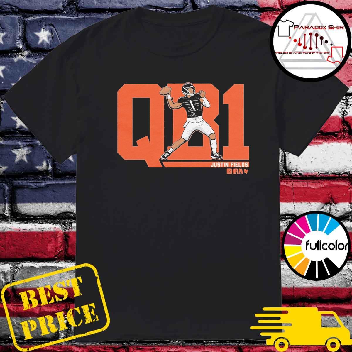 NFLPA Licensed Justin Fields QB1 T-Shirt