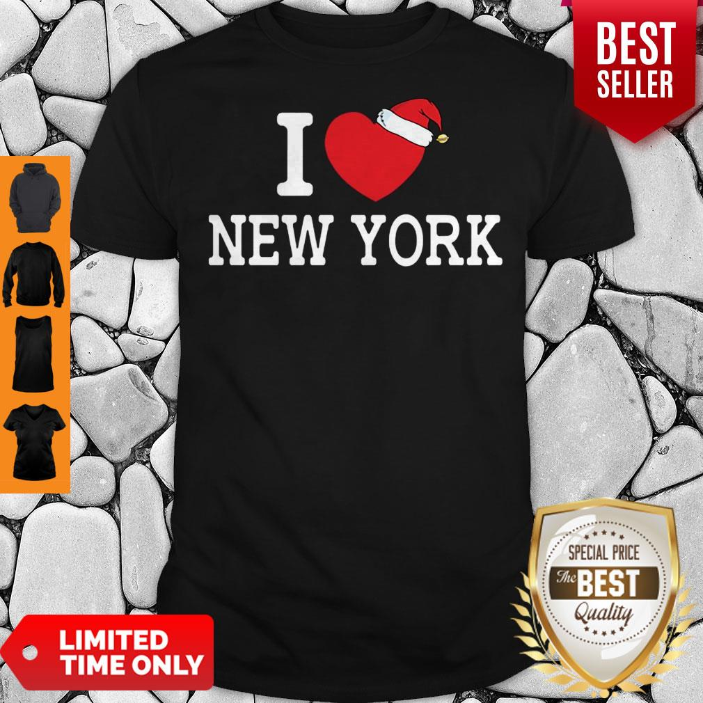 I Heart New York Christmas Santa Hat New York Strong Love Shirt