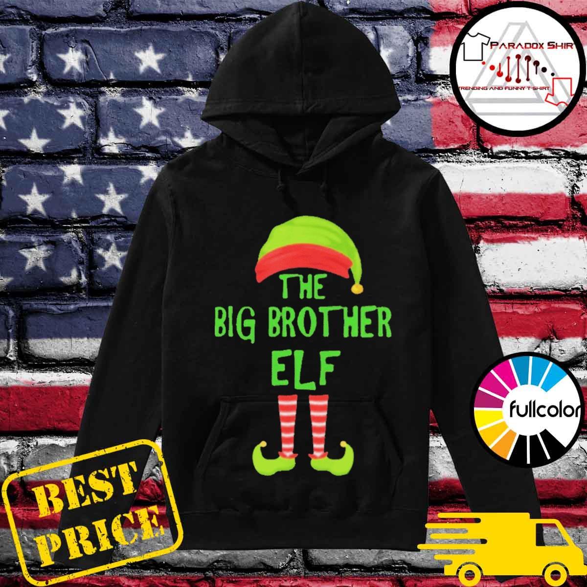 Big brother elf matching family christmas party pajama s Hoodie
