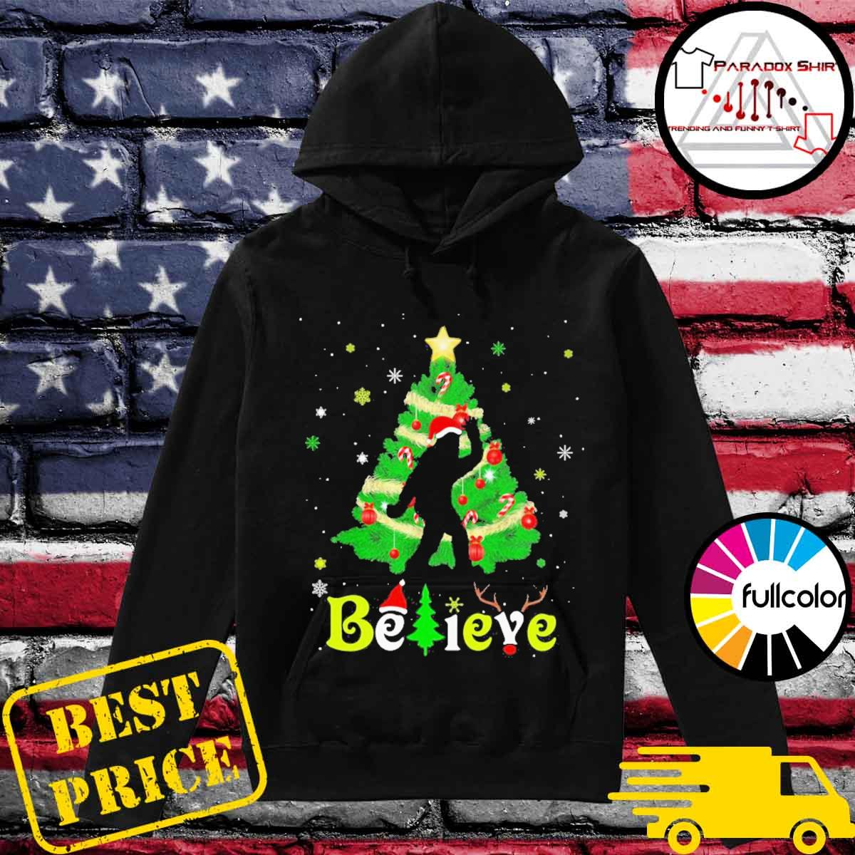 Bigfoot believe christmas tree merry xmas s Hoodie