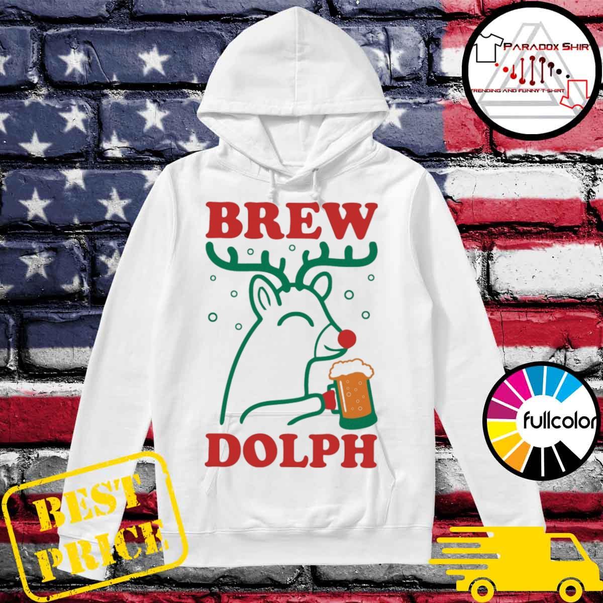 Brew Dolph Deer drink beer Christmas s Hoodie