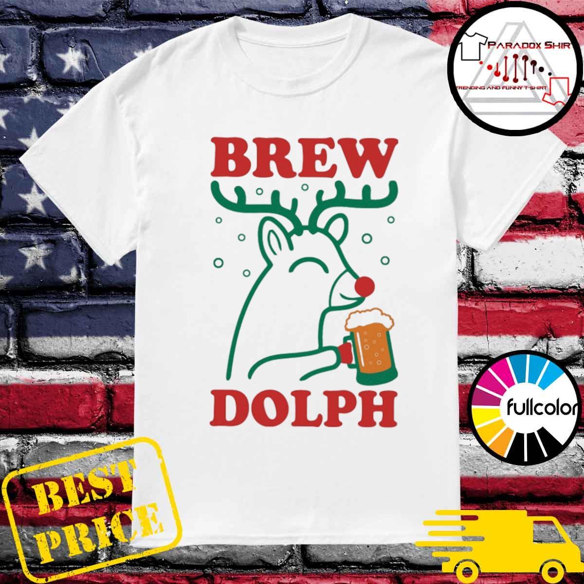 Brew Dolph Deer drink beer Christmas shirt
