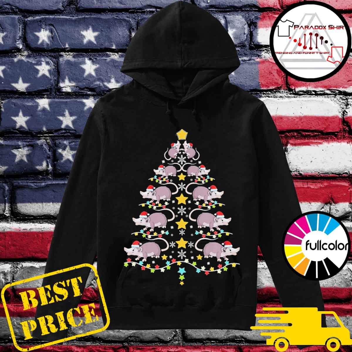 Christmas opossums tree Christmas lights s Hoodie