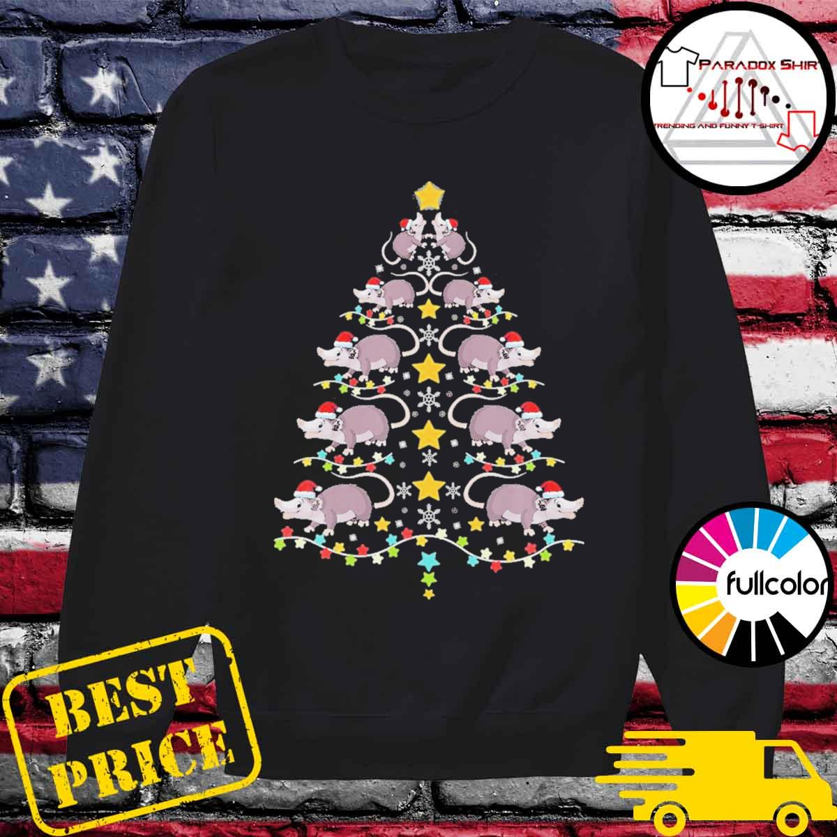 Christmas opossums tree Christmas lights s Sweater