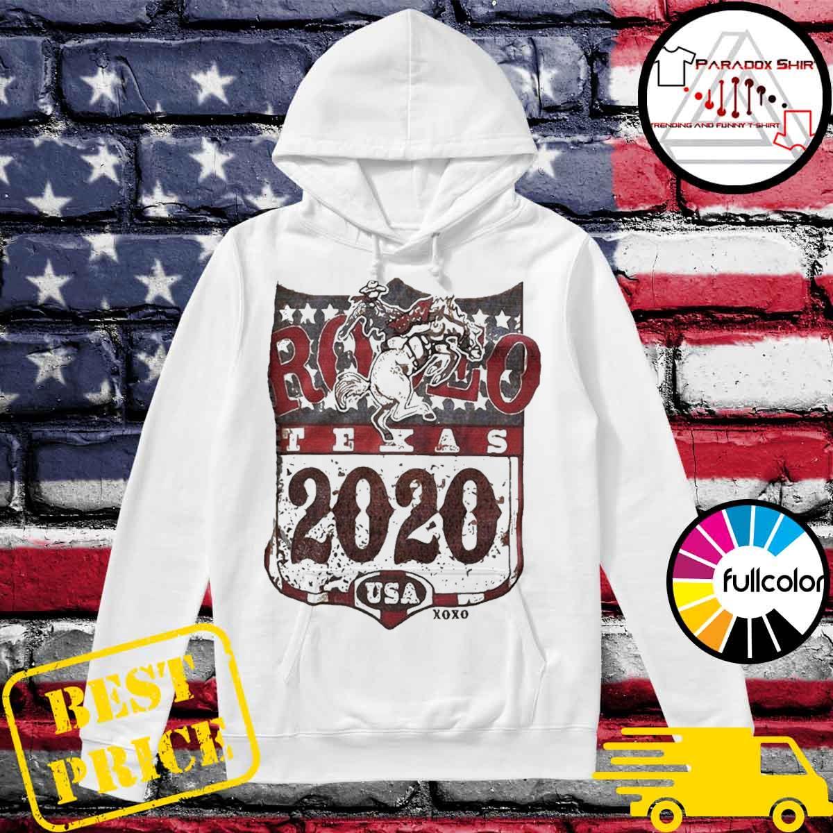 Cowboy rodeo texas 2020 American flag s Hoodie