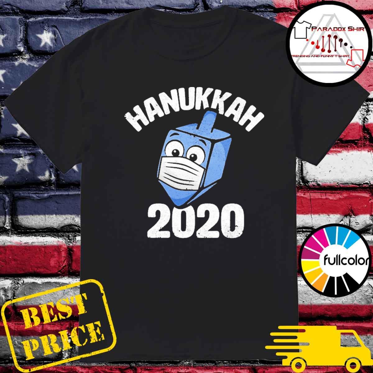 Hanukkah 2020 dreidel wearing face mask shirt
