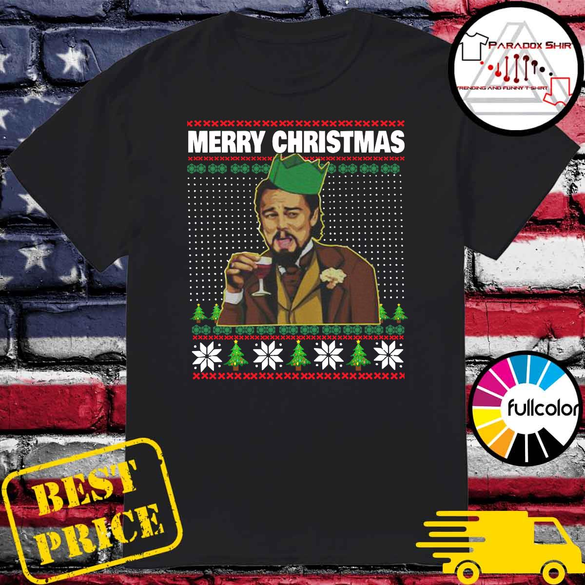 Leo Laughing Dank Meme Ugly Merry Christmas Sweatshirt