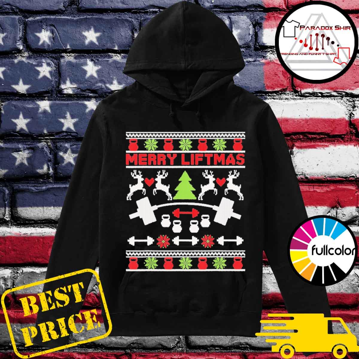 Official Merry Liftmas ugly Christmas sweater Hoodie
