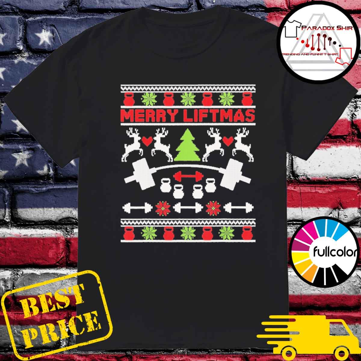 Official Merry Liftmas ugly Christmas sweater