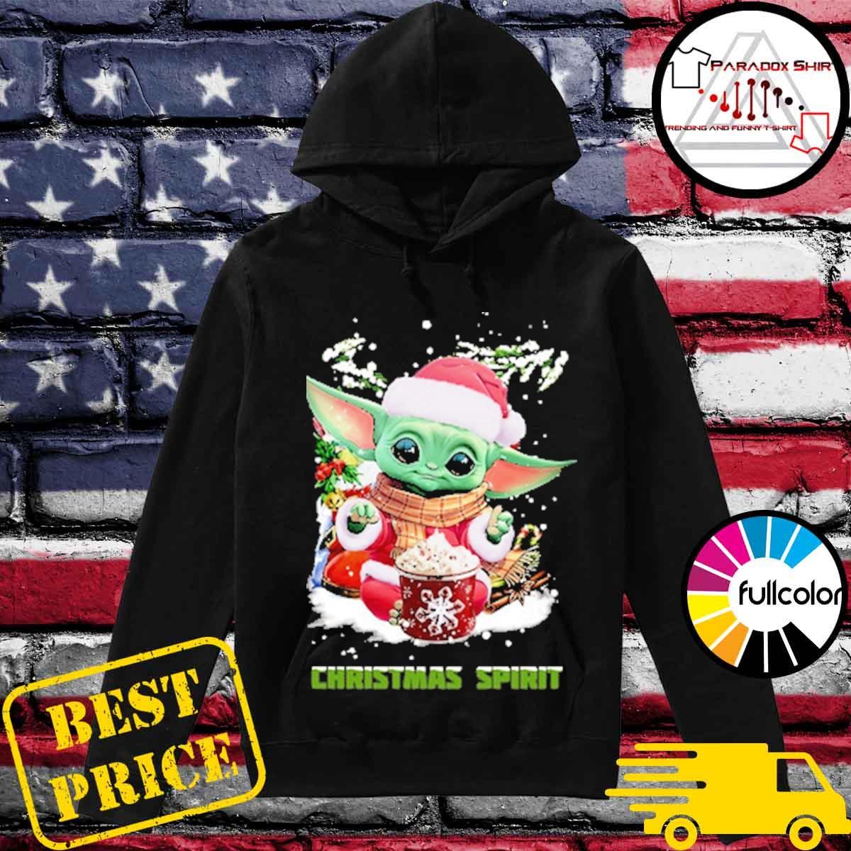 Official Santa Baby Yoda Christmas Spirit gift sweater Hoodie
