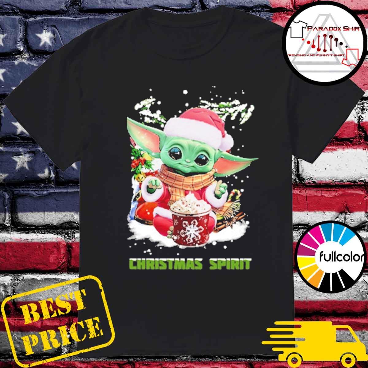 Official Santa Baby Yoda Christmas Spirit gift sweater
