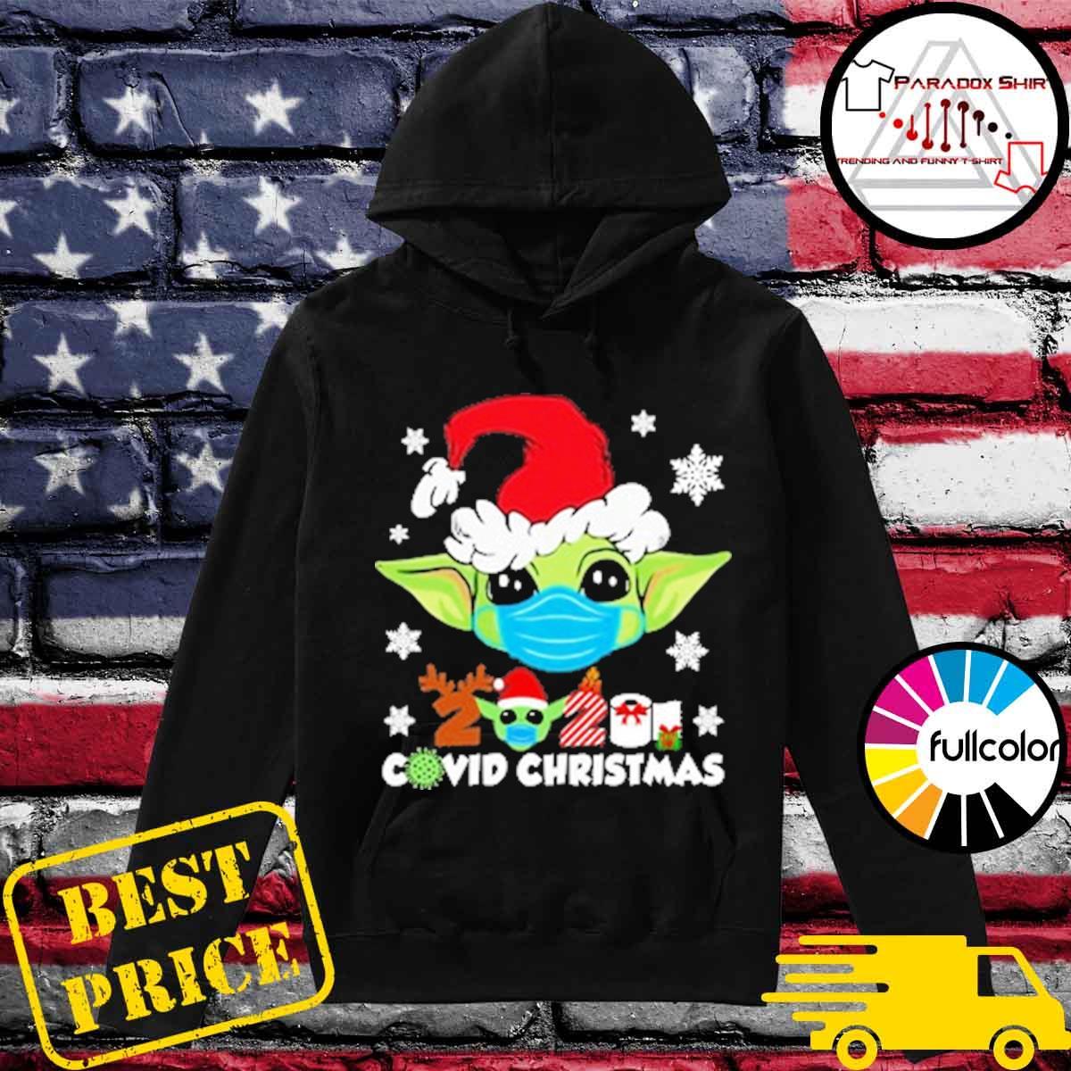 Official Santa Baby Yoda face mask 2020 Covid Christmas s Hoodie