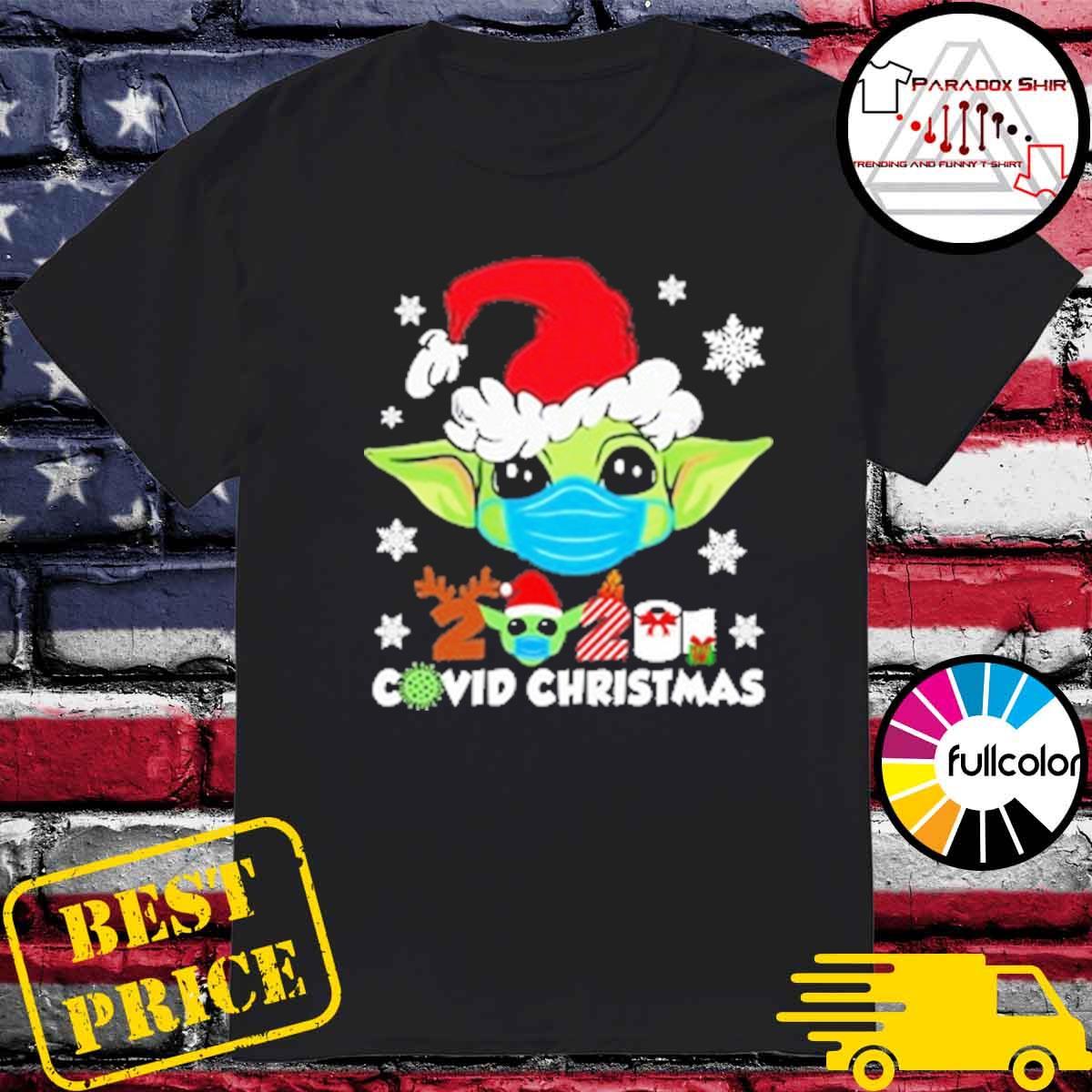 Official Santa Baby Yoda face mask 2020 Covid Christmas shirt