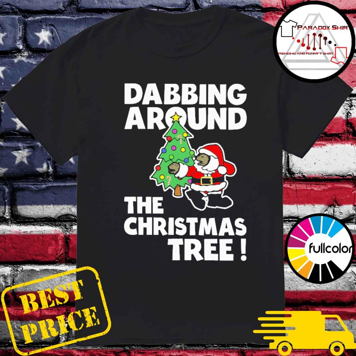 Official Santa Dabbing around the Christmas tree shirt