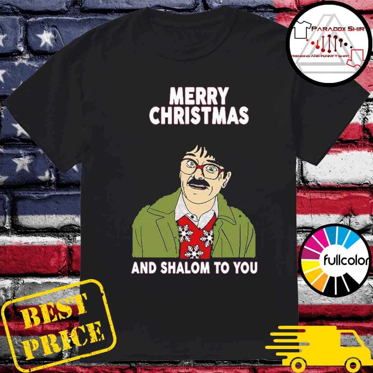 Official Shalom Jackie Jim Merry Christmas and Shalom to you shirt