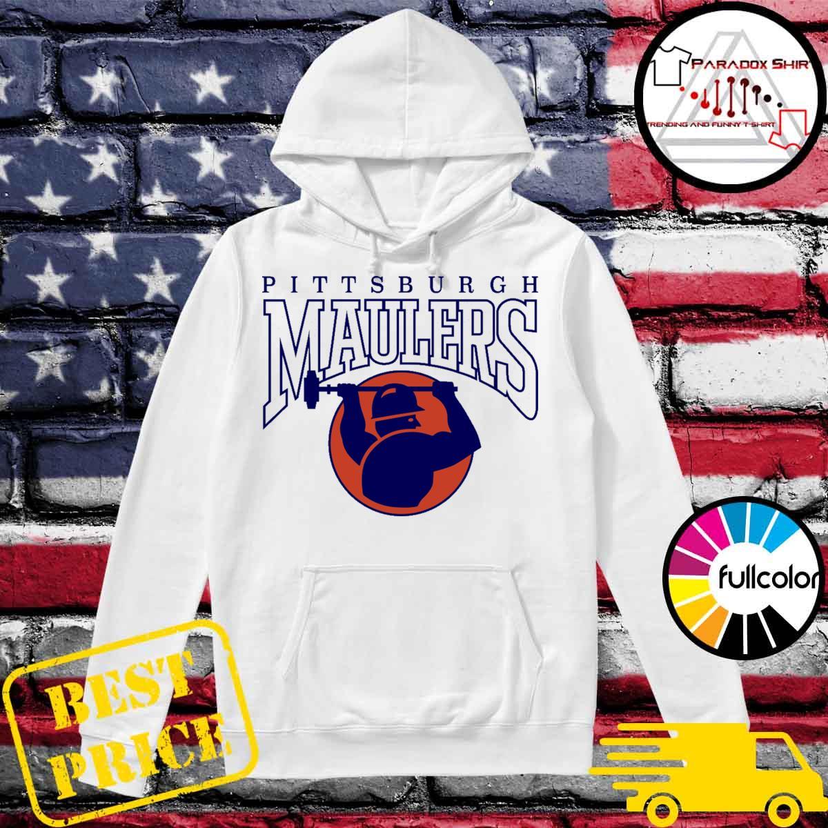 Pittsburgh Maulers football logo s Hoodie