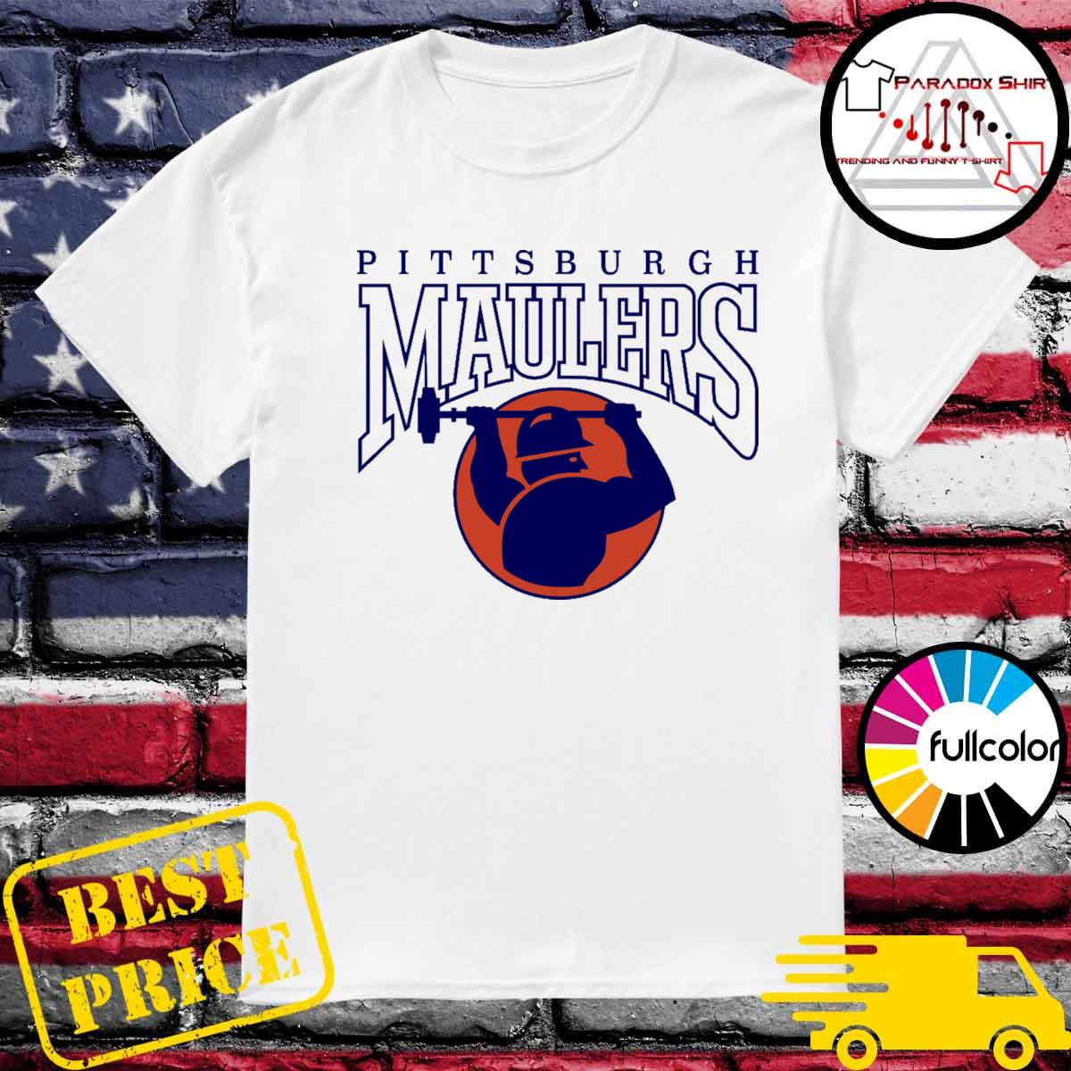 Pittsburgh Maulers football logo shirt