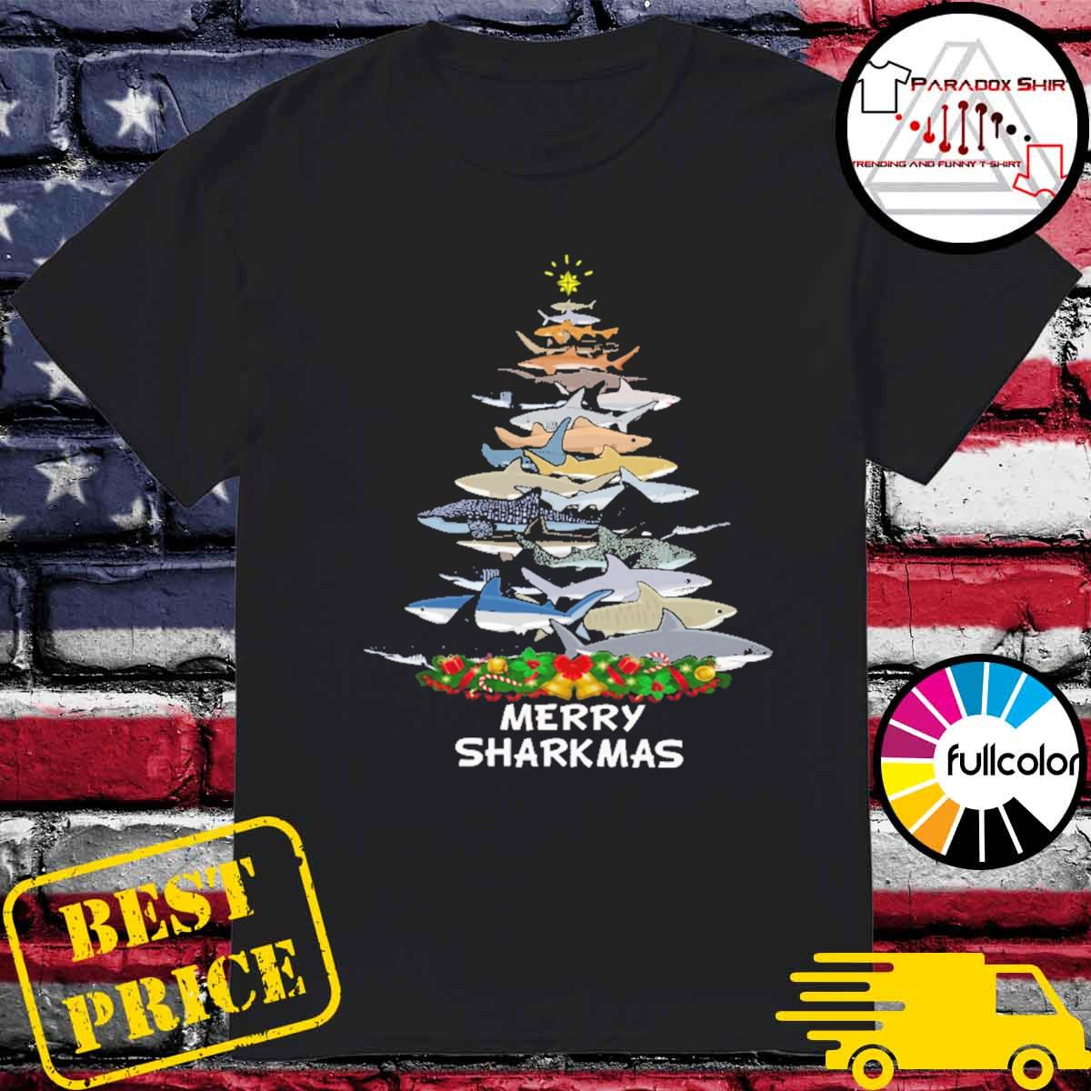 Sharks tree Merry Sharkmas shirt
