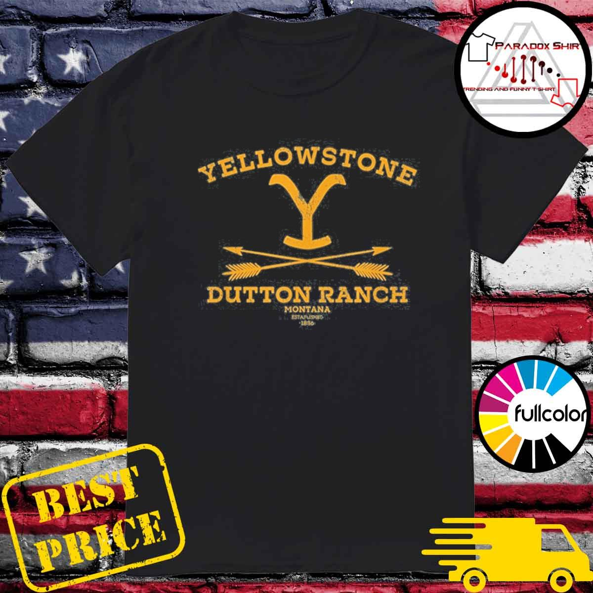 Yellowstone dutton ranch arrows shirt