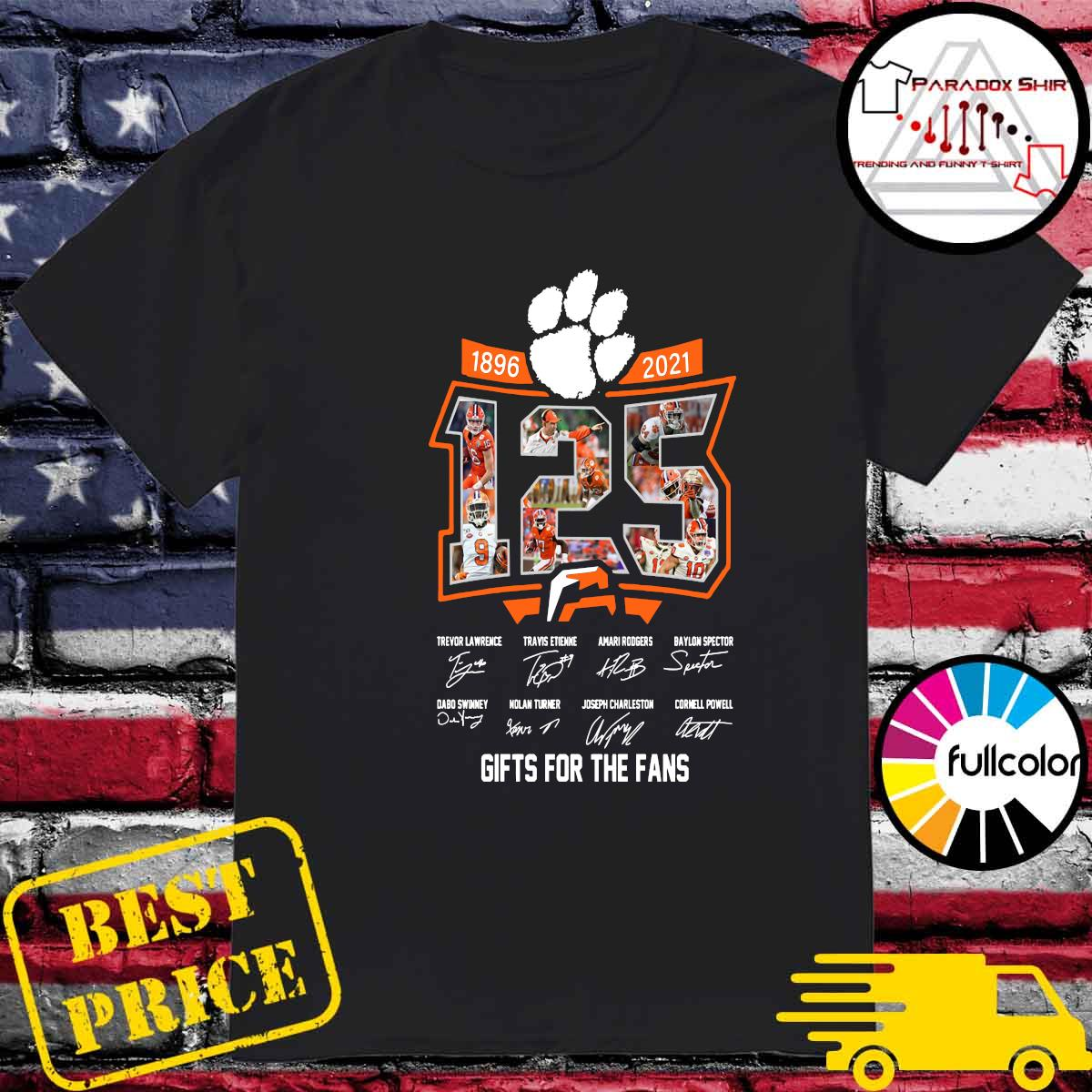 125 Years Of Clemson Tigers 1896 2021 Gifts For The Fans Signatures Shirt