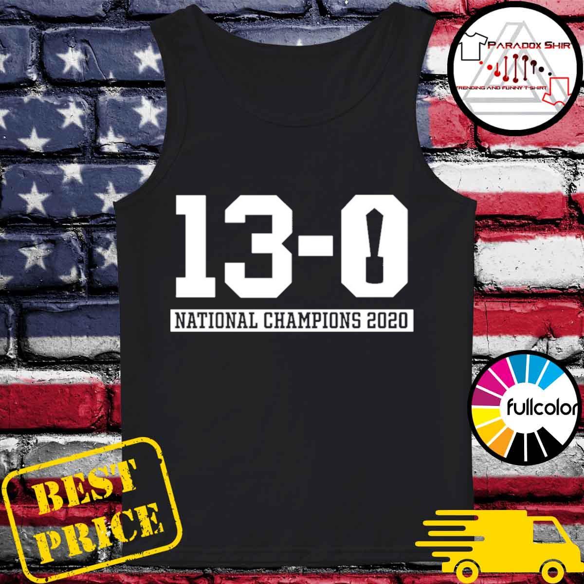 13-0 Alabama National Champions 2021 Shirt Tank-top