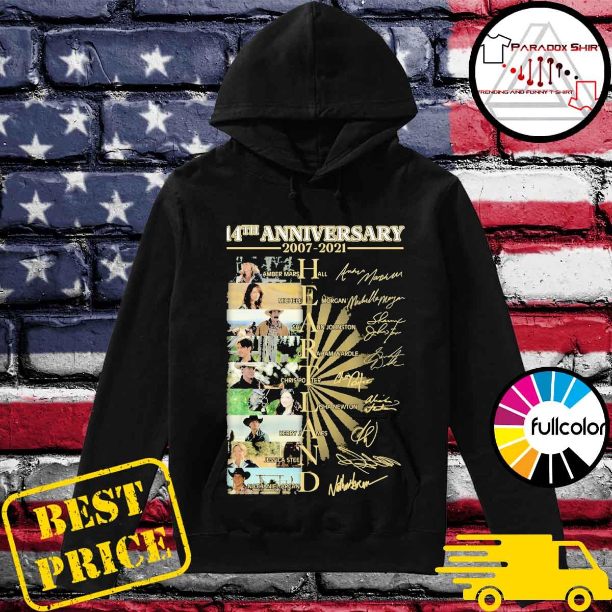 14th anniversary 2007 2021 Heartland signatures s Hoodie