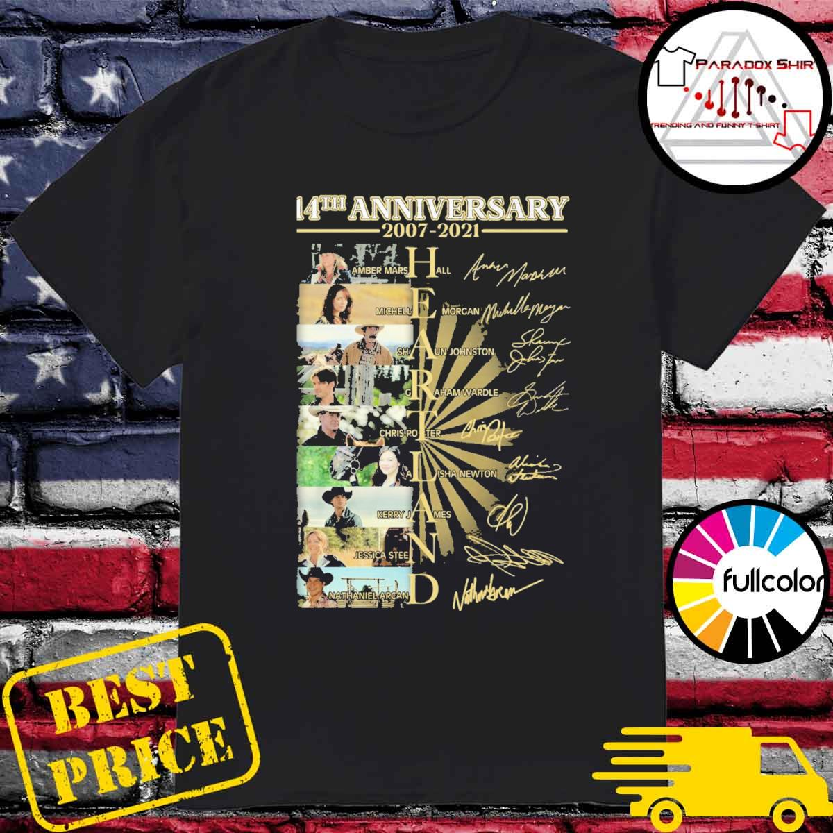 14th anniversary 2007 2021 Heartland signatures shirt
